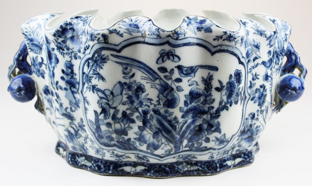 ca 1900 Chinese blue & white foot bath