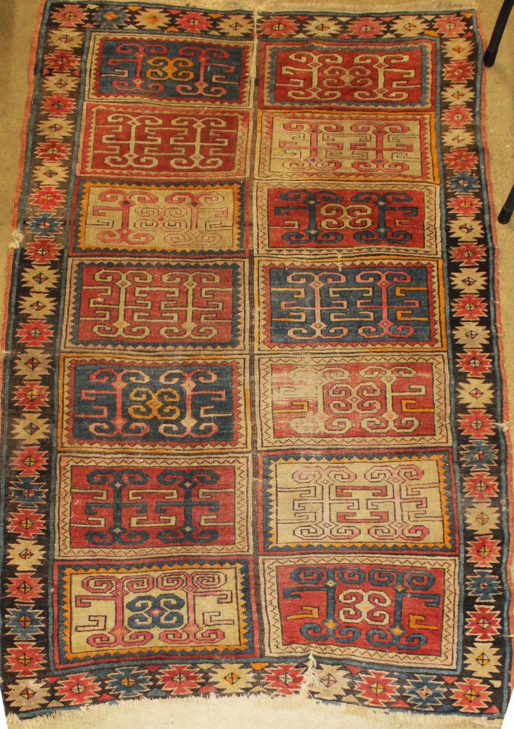 Kazak tribal area rug