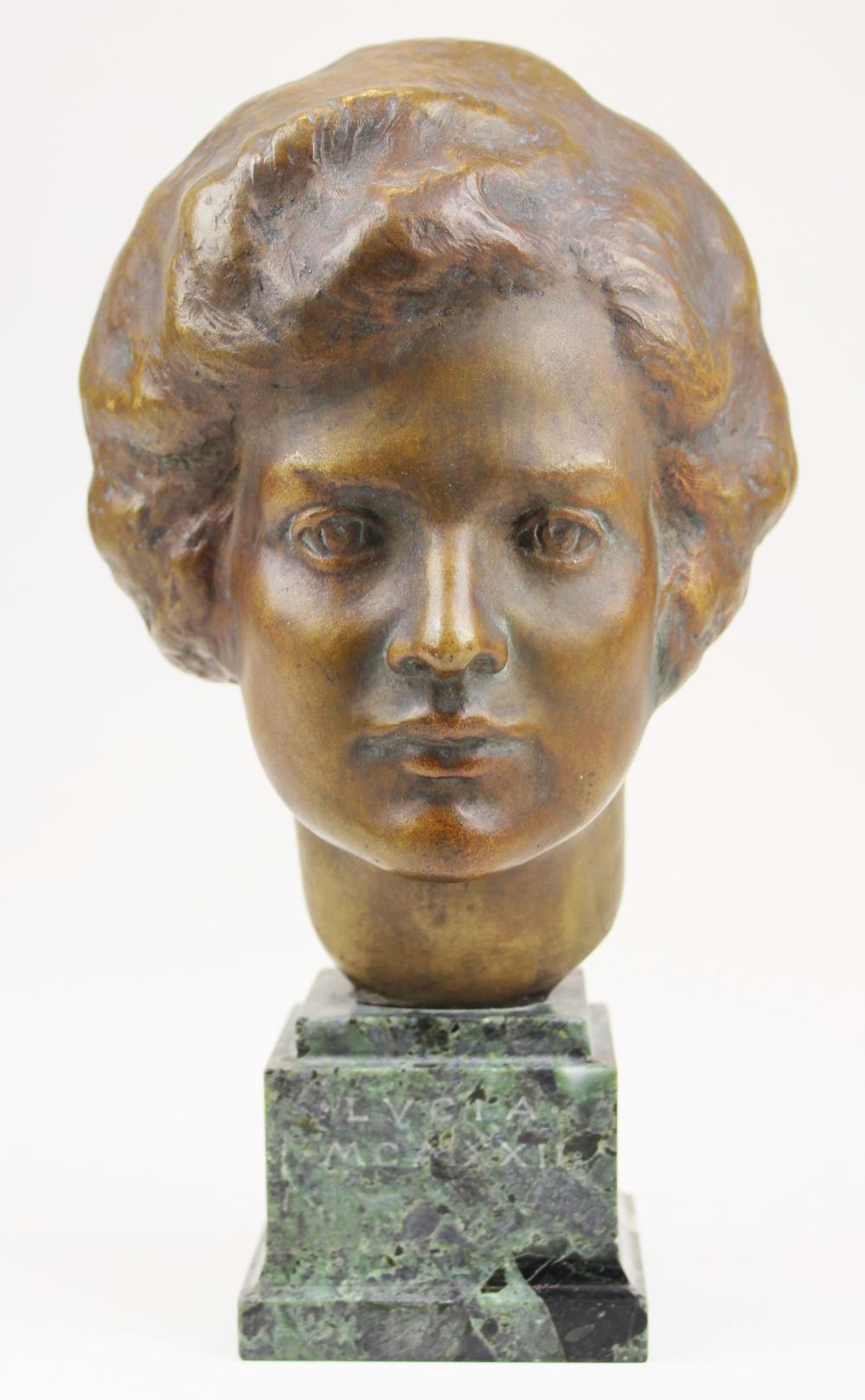 1932 bronze bust signed T Jones