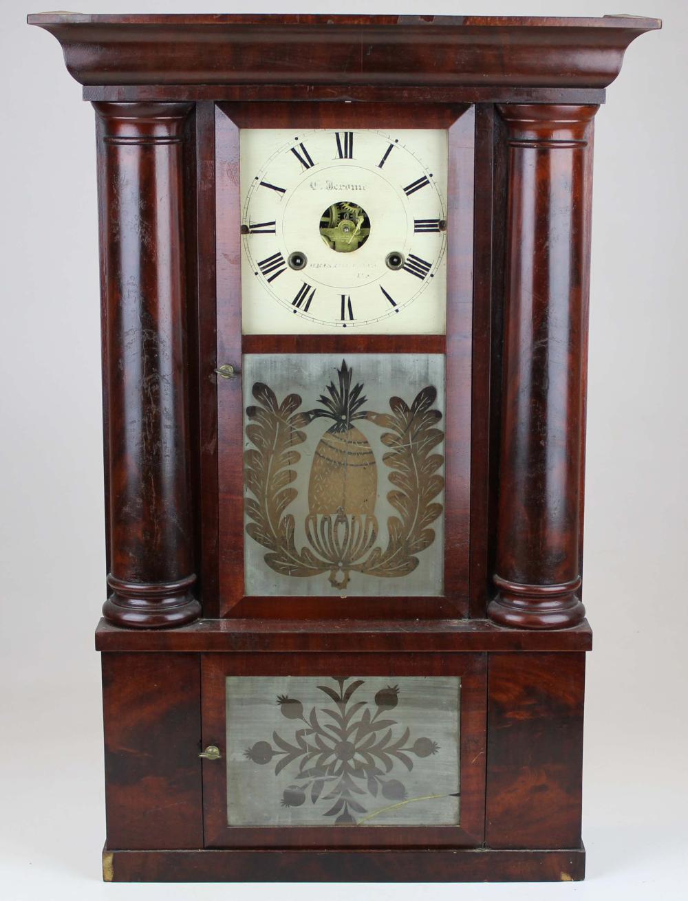 Chauncey Jerome hollow column shelf clock