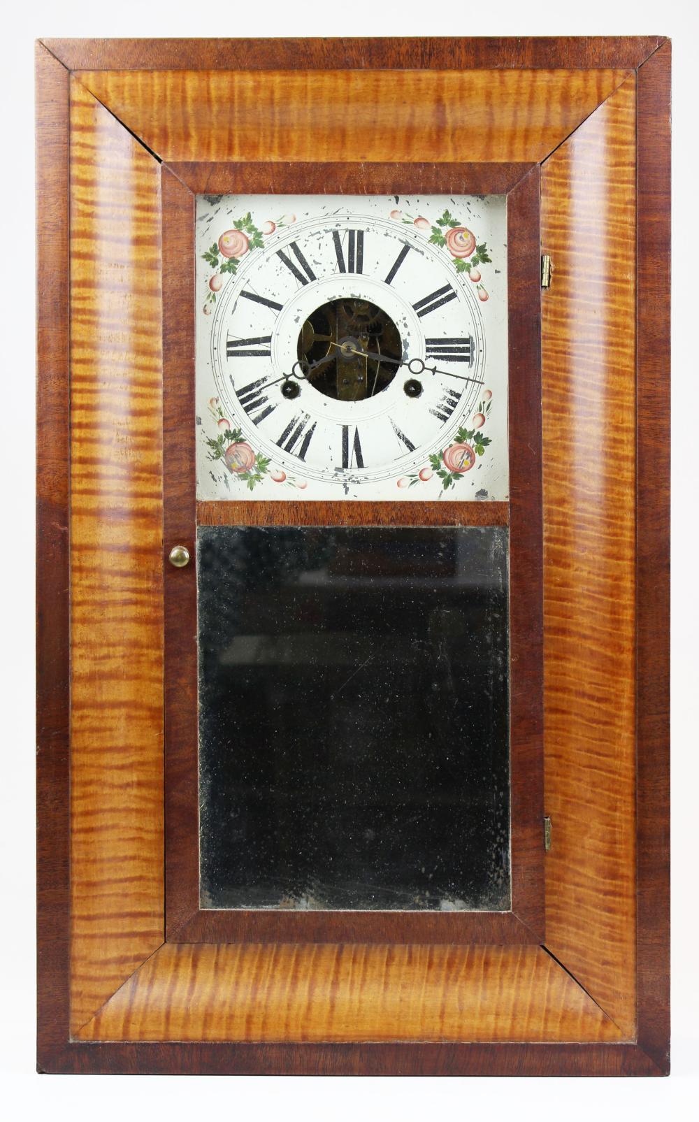 Atkins, Porter, & Co tiger maple shelf clock