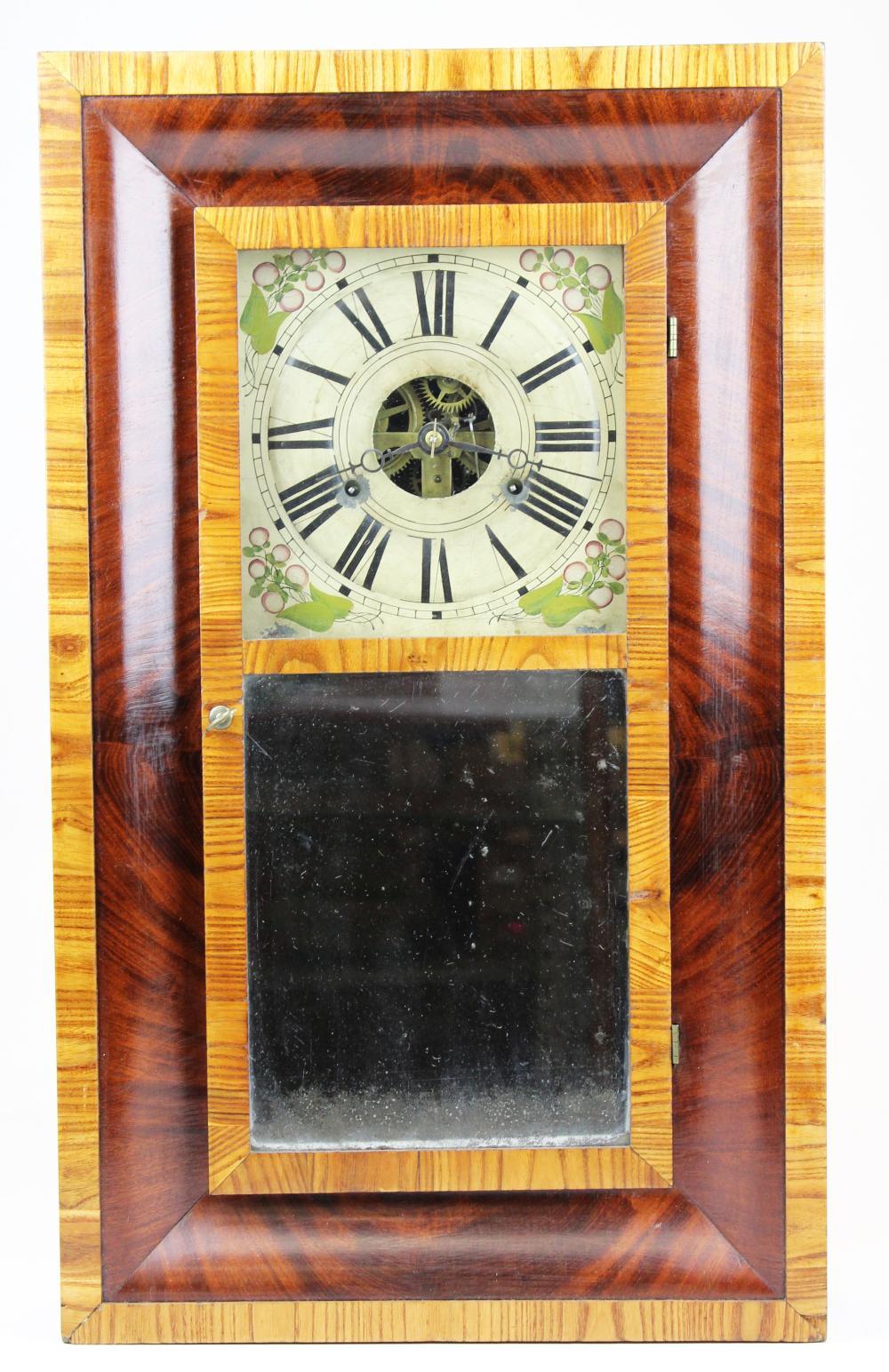 Clark, Gilbert, & Co chestnut shelf clock