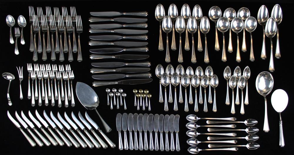 125 pcs. Gorham Fairfax sterling silver flatware
