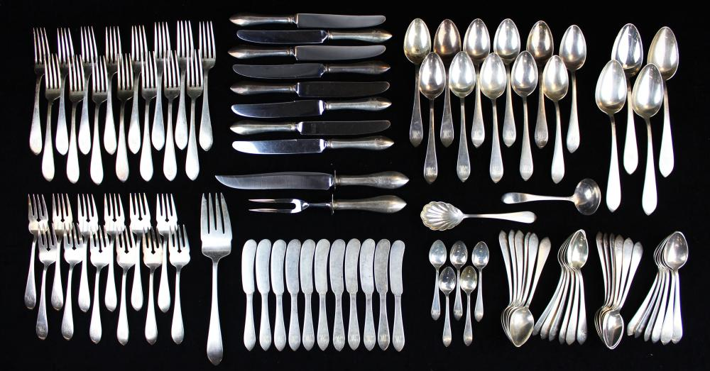89 pcs. Dominick and Haff sterling flatware