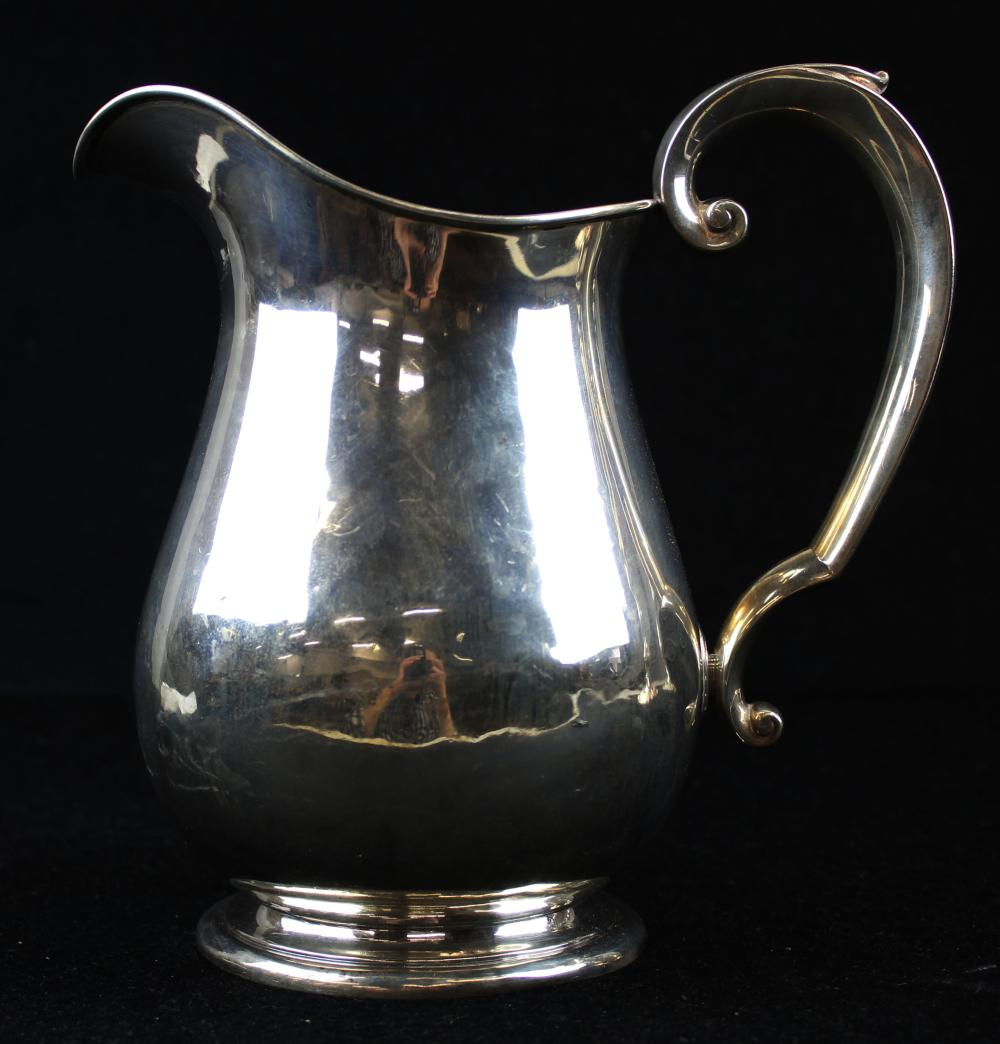 The Watson Co. sterling silver water pitcher