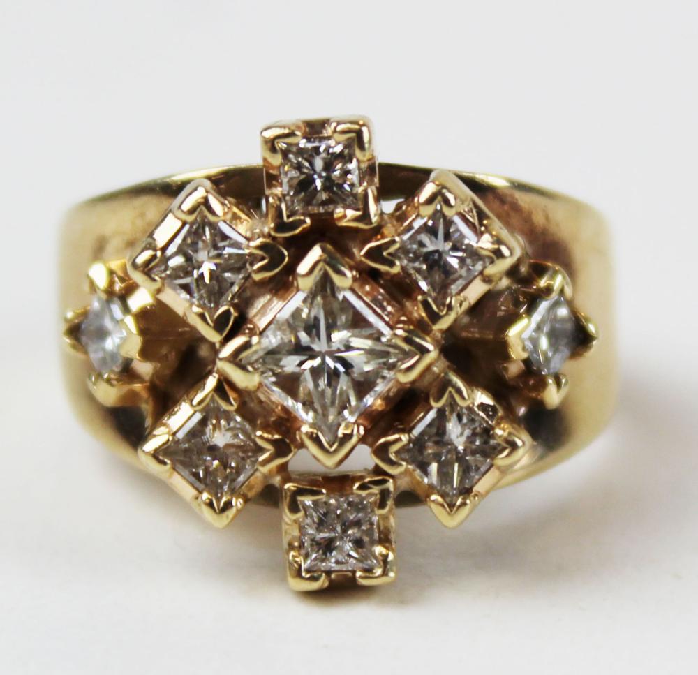 1.7 ct Ladies diamond and 10 k yellow gold ring