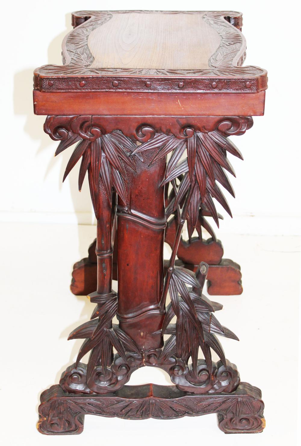 Arts & Crafts era carved writing stand