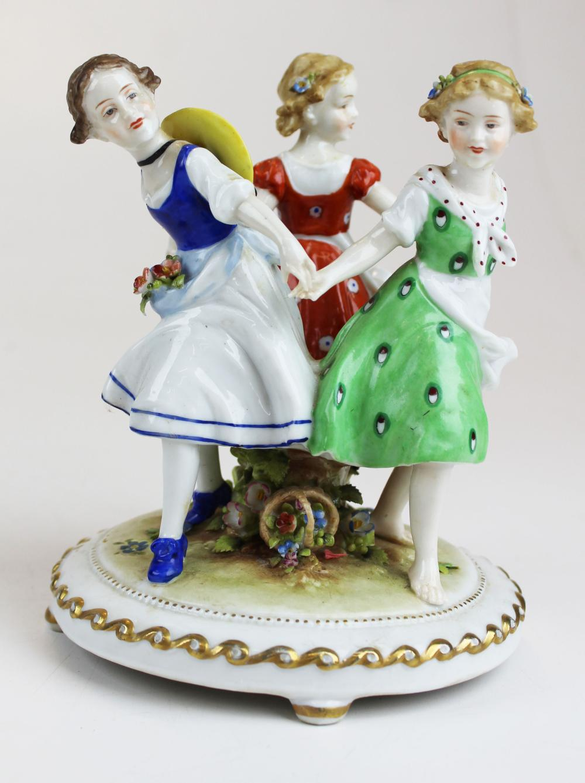 German porcelain figurine of dancing girls