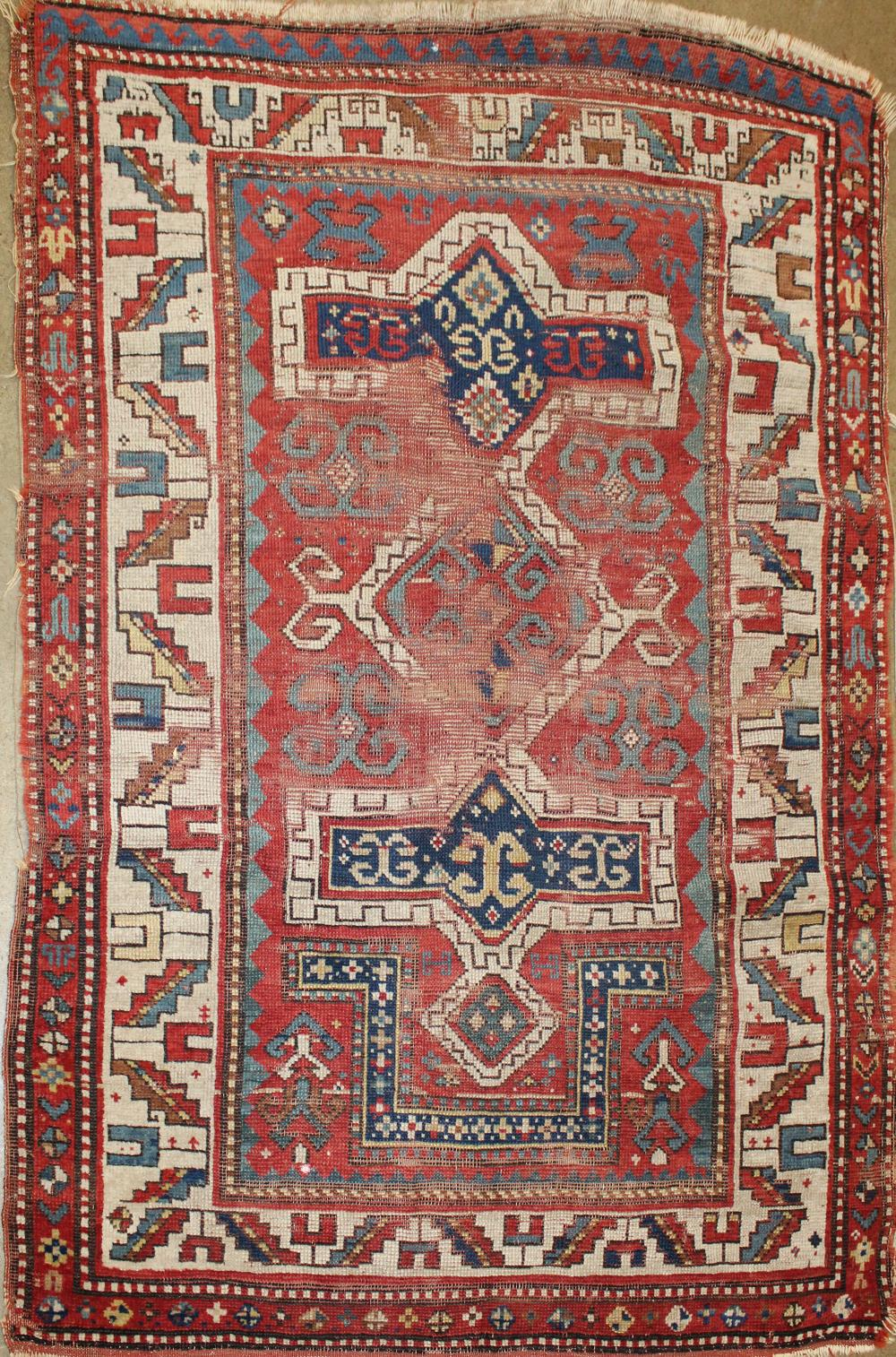 early 20th c Kazak prayer rug
