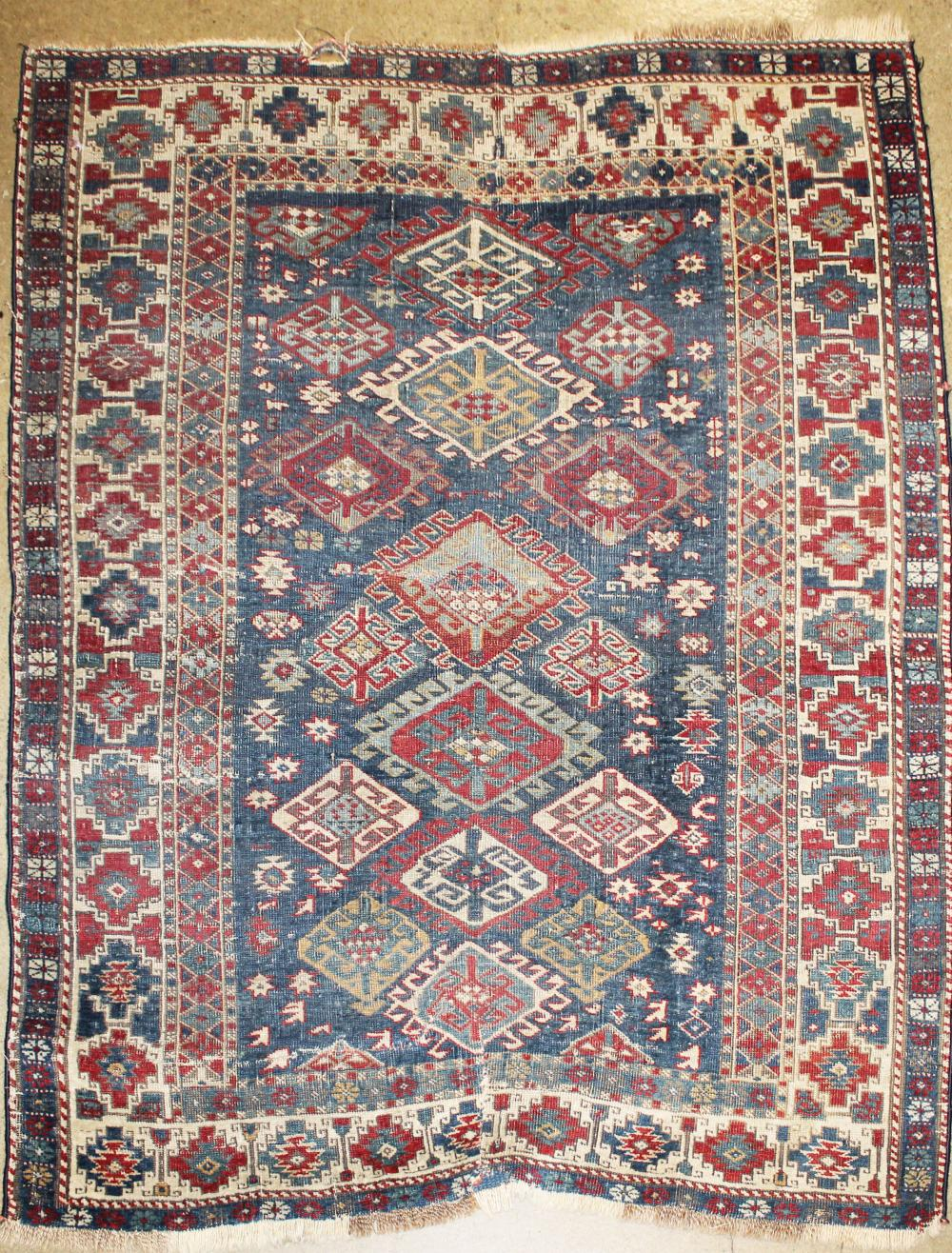 late 19th c Kazak area rug