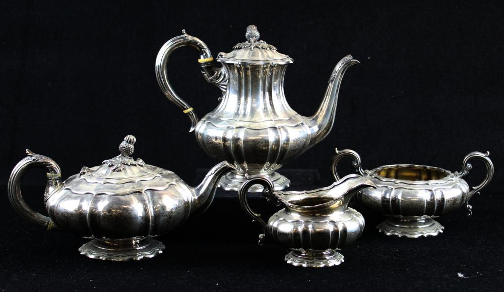 1834-35  London sterling silver 4 pc. tea set