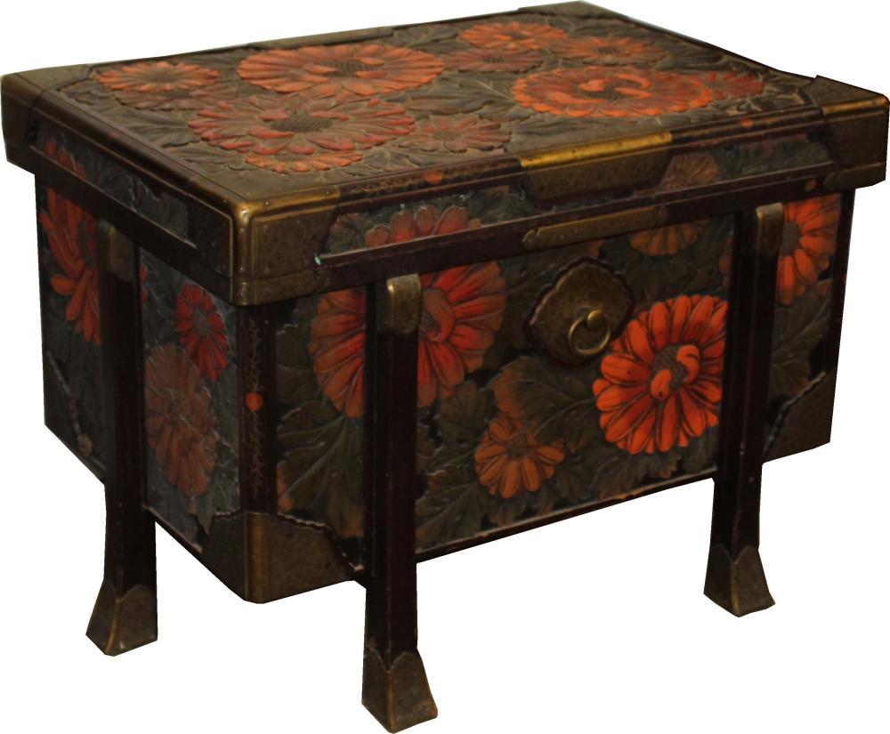 Japanese Meiji period karabitsu trunk