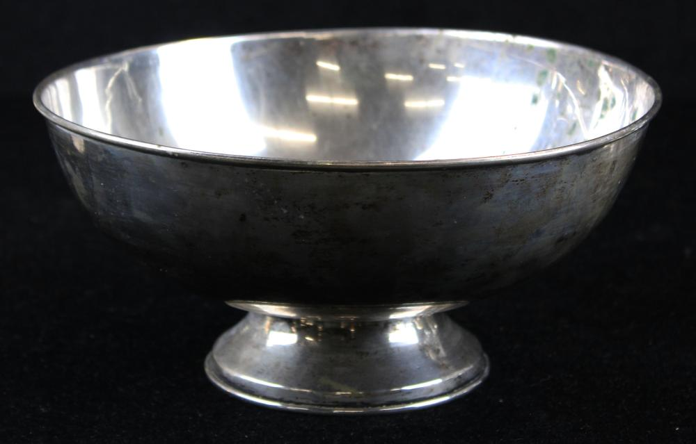 Portuguese 833 silver round footed bowl