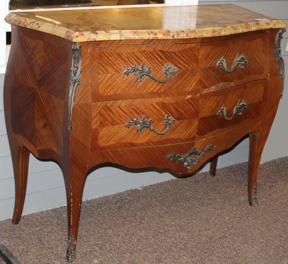 early 20th c French Louis XV bombe commode