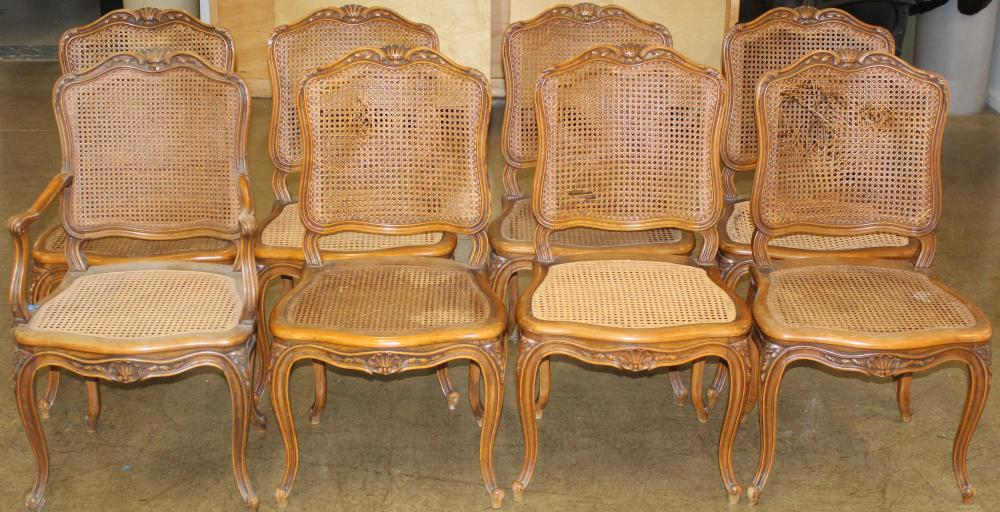 set of 10 labeled Gouffe Paris Louis XV chairs