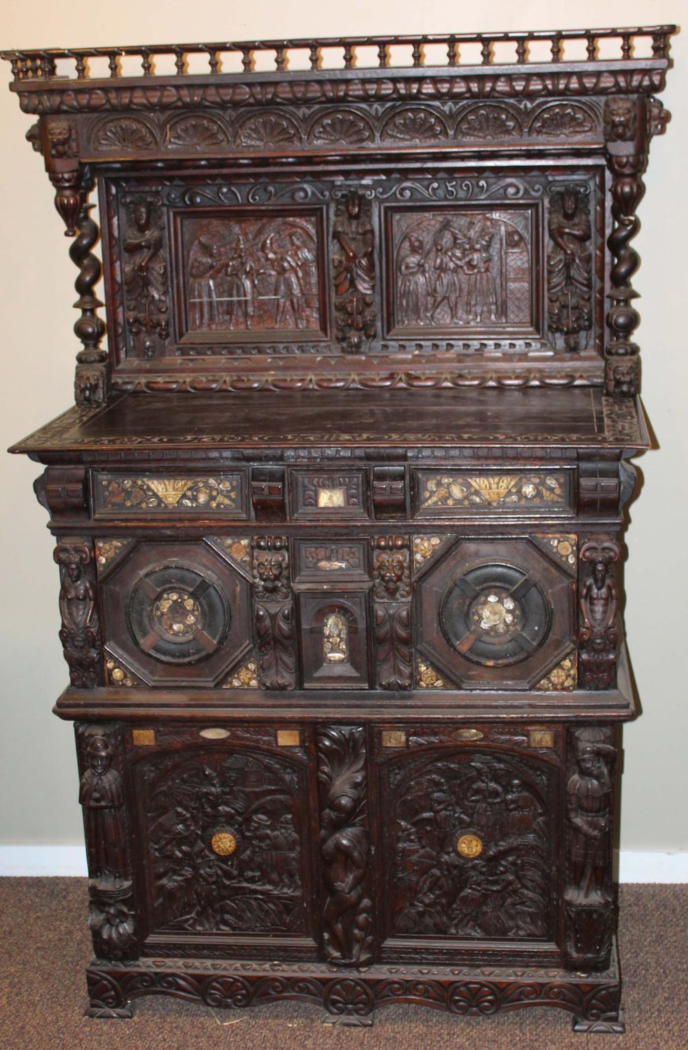 19th c European Renaissance revival sideboard