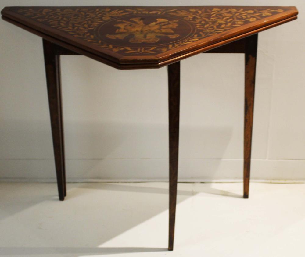 ca 1900 Dutch inlaid handkerchief table