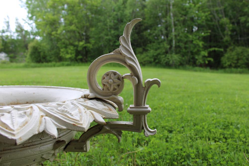 1874 J W Fiske cast iron garden urn