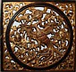 Chinese carved panel 30 x 30 inches late 19th or early 20th century