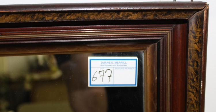 Large deep walnut mirror frame for Deep house 2006