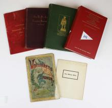 Six books and imprints about 1st VT Cavalry