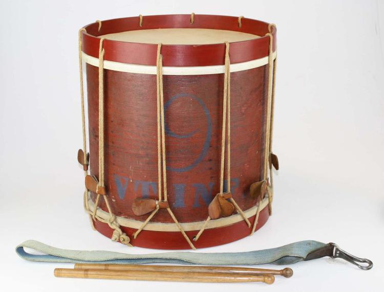 Marked 9th Vermont Company grade Infantry Drum,