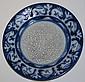 Dedham Pottery blue & white rabbit plate diameter