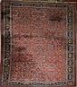 Persian all-over floral main carpet w/ elk head