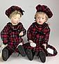 1911 Schoenhut boy & girl dolls- all wood, painted