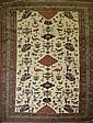Good older Northern Persian flat-woven area rug dec. w/ birds & animals 4'6