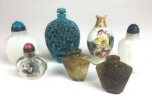 Lot of 7 Chinese contemporary snuff bottles.