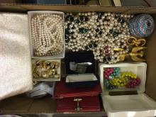 lot of costume jewelry and ladies accessories including pearls