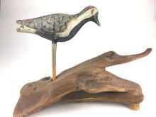 Folding tin Strater & Sohier shore bird decoy.