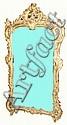 18th c Louis XV rococo ornate 2 part gilt mirror