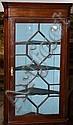 Geo III mahogany hanging corner cupboard with
