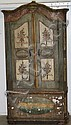 Early French 2 door arch top armoire having 19