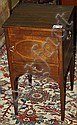 English Hepplewhite oval inlaid mahogany 1 door 1