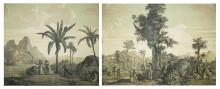 1824 wallpaper panels from Paul & Virginie