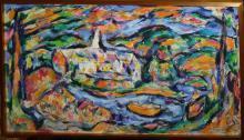 Peter Schwarzburg (NY 1933-2002) Landscape
