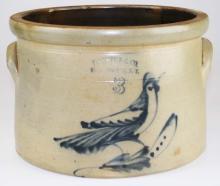 Ft Edward, NY bird decorated crock
