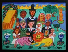 Malcha Zeldis (NY/Israel 1933-) Peaceable Kingdom