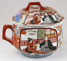 19th c Japanese Imari covered chamber pot