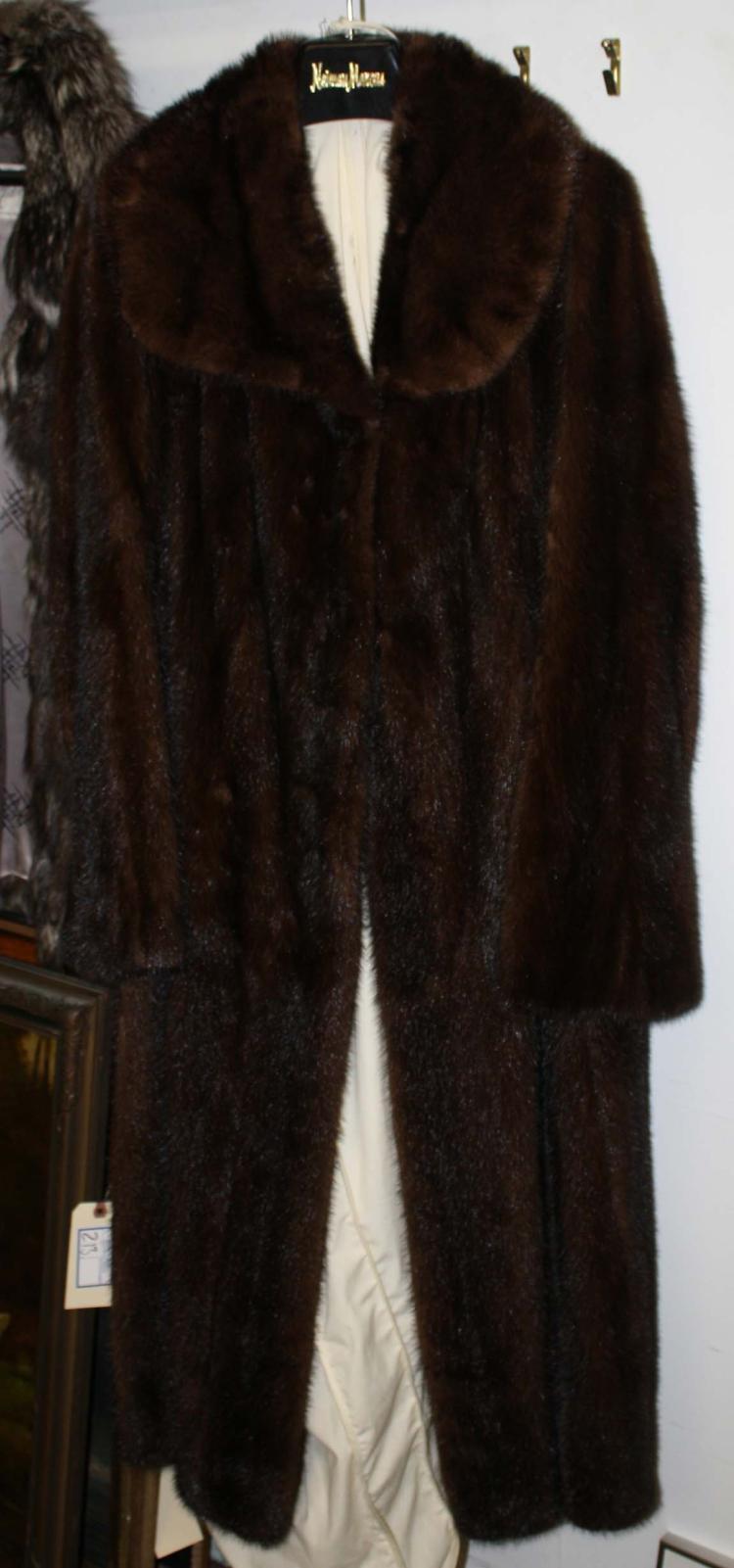 neiman marcus labeled full length mink coat. Black Bedroom Furniture Sets. Home Design Ideas