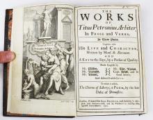 1712 Works of Petronius Arbiter