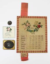 1850's calendar, masonic stencil, dog tag