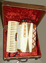 Silvestri Accordion - gold metal flake and white