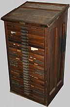 25 dwr Hamilton Mfg Co ash printer's type cabinet