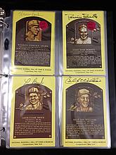 Collection of 36 baseball Hall of Fame autographed