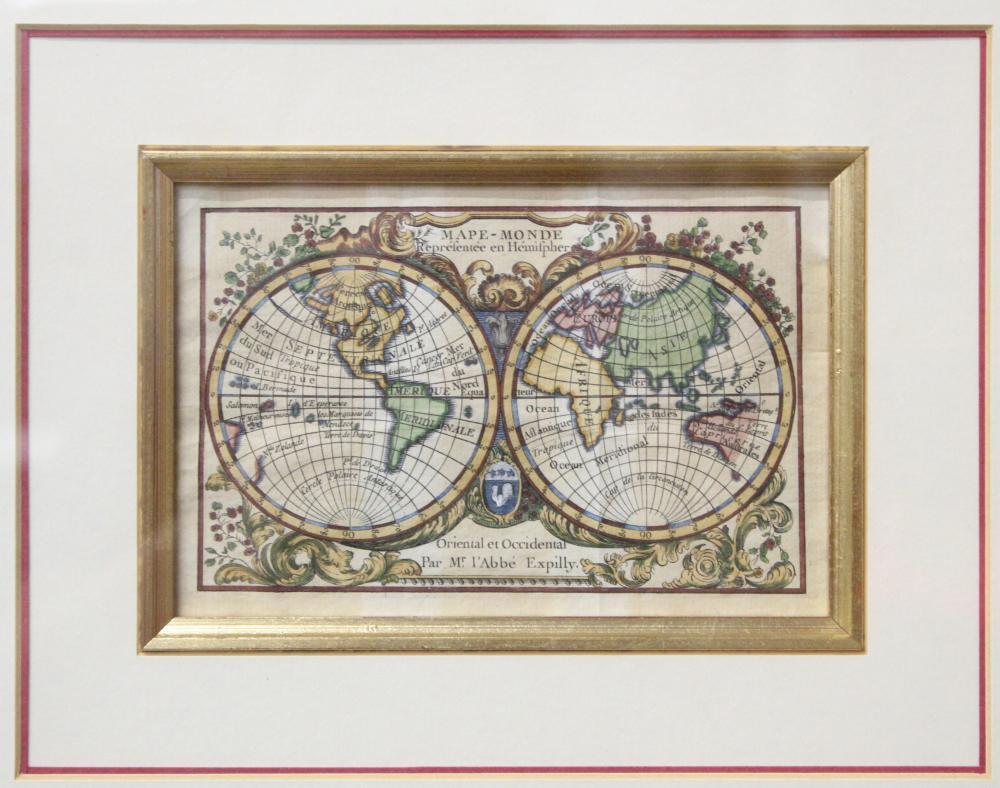 1765 Map of the Hemispheres