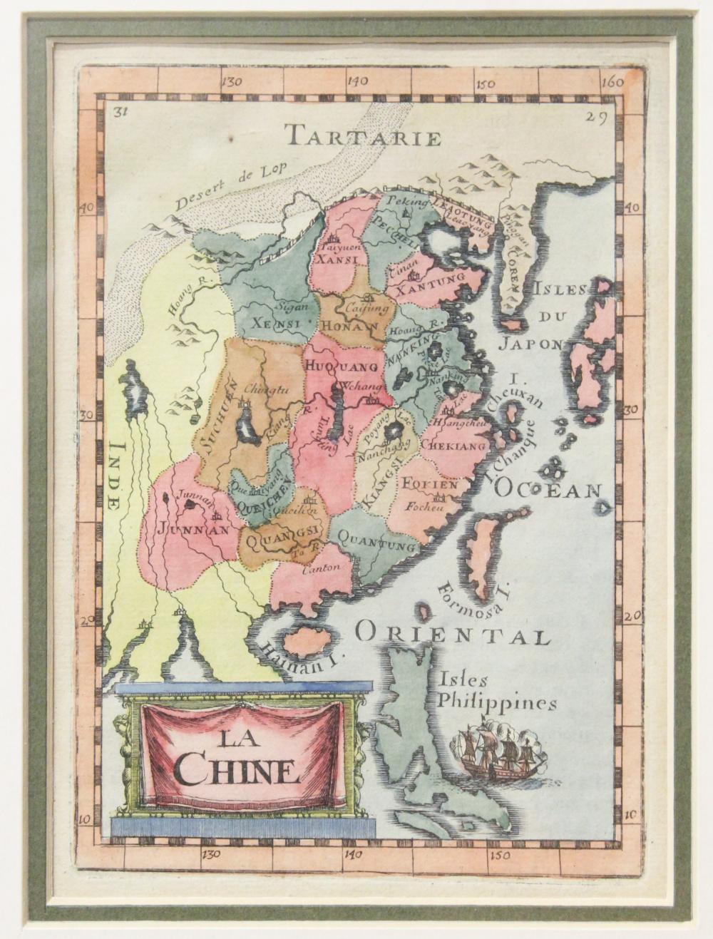 1683 Alain Mallet La Chine Map of China